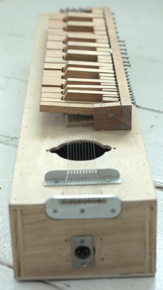 Polyphonic Workshop - Ellen's Home Page Instrument Craft, Homemade Musical Instruments, Making Musical Instruments, Cigar Box Guitar, Music Guitar, Guitar Case, Hurdy Gurdy, Kalimba, Guitar Building