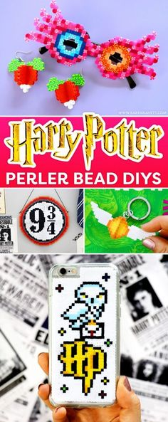 Today i've got a really fun video for you guys – we're doing harry potter crafts made with perler beads! i am a huge harry potter fan, and you guys have Perler Bead Designs, Diy Perler Beads, Pearler Bead Patterns, Perler Bead Art, Perler Patterns, Diy Perler Bead Crafts, Christmas Perler Beads, Theme Harry Potter, Harry Potter Birthday