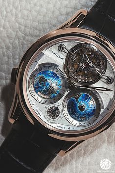 Now on WatchAnish.com - Montblanc Villeret Tourbillon Cylindrique Geosphères Vasco da Gama, live from SIHH 2014.