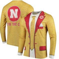 buy popular 4cb44 c824a Men s Faux Real Apparel Multi Nebraska Cornhuskers Faux Suit Long Sleeve  Shirt