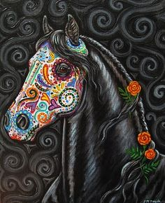 Caballo de los Muertos - Day of the Dead Horse Painting