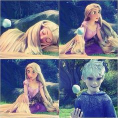 Awww hahaha <<<<< you woke her up Jack. now run like your life depends on it! Disney Ships, Disney Art, Disney And Dreamworks, Disney Pixar, Jake Frost, Rapunzel And Eugene, Frozen And Tangled, Dragon Rider, The Big Four