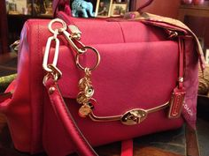Two toned Pink Coach purse