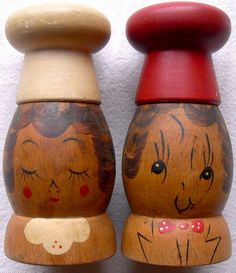 Salty & Peppy 1950's Salt & Pepper Shakers.  (Thankfully, this was before my time.)