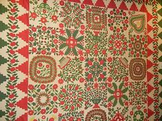 A beautiful Baltimore Album quilt from the Arlan and Pat Christ Collection.