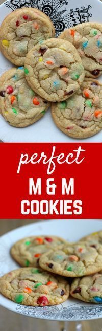 These M&M cookies are perfect! Chewy centers, crispy edges, simple to make and even easier to eat. You'll love this easy and delicious cookie recipe.