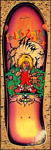 This was my first professional skateboard...Fred Smith punk size by Alva