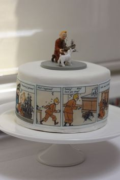 'In Alfie's Room: A Truly Fabulous Tintin Party' said previous pinner • Tintin cake • Tintin gateaux
