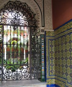 Entryway and courtyard, Andalusian style. Seville Spain