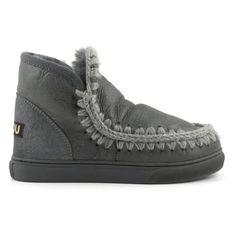 Mou Boots Mini Eskimo Sneaker Women Charcoal Metallic - MOU #mouboots #mousale #moubootssale #BlackFriday