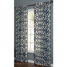 allen + roth 95-in L Navy Oberlin Curtain Panel $26.85