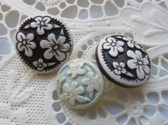 Vintage Buttons  Cottage chic 3 coordinating by pillowtalkswf, $5.95