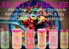 Anjou Pear + Orange Dreamsicle + Apricot Ginger + Sweet Pea & Lily + Grapefruit Mandarin + Tropical Mango = Fruity Pebbles!  Get this home fragrance with Pink Zebra Sprinkles.  easypzsprinkles.com