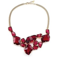 ABS by Allen Schwartz Jewelry Some Like It Hot Faceted Stone Bib... ($160) ❤ liked on Polyvore featuring jewelry, necklaces, apparel & accessories, bib jewelry, bib necklace, abs by allen schwartz jewelry, glass jewelry and cluster bib necklace