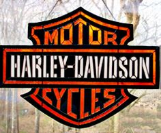 Stained Glass Harley Davidson Sign