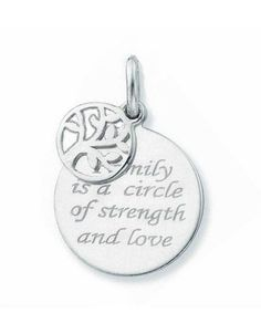 """Silver Pendant """"Family is a Circle '16mm"""