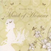 Enchanted Days Maid of Honour Thank You Card | The Bridal Gift Box | Wedding & Bridal Gifts