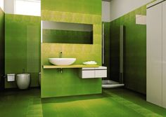 Zielono mi! : http://www.dom.pl/aranzacje-kolor-zielony-we-wnetrzach.html/wystroj-lazienki-2