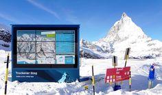 Digital Signage by netvico at Matterhorn/Switzerland