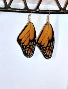 Boucles doreilles papillon monarque bijoux par DougWalpusArtStudio