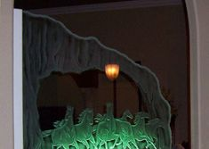 carved-glass-dividers-0026 Glass Room Divider, Living Room Mirrors, Dividers, Glass Design, Plant Leaves, Carving, Projects, Plants, Home Decor