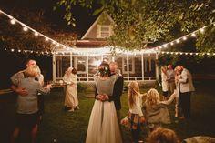 diy del boda del patio trasero
