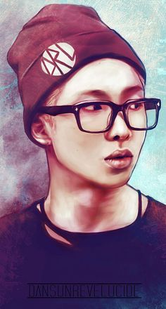 Rap Monster drawing!!!!!!!!!! Omg!!!!!