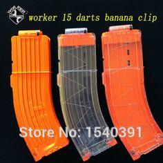Nerf banane mags Munition clips demolisher 15 runde nachfüllen dart Magazin& 20 Darts clips kompatibel mit allen nerf n- Streik Elite