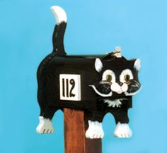 Whimsical Kitty Mailbox - You pick the color