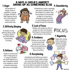 8 ways a child's anxiety shows up as something else- I think is important for child life specialists to recognize as well as parents. Knowing these could lead to intervention in helping a child reduce anxiety. Gentle Parenting, Kids And Parenting, Parenting Tips, Parenting Styles, Parenting Books, Parenting Magazine, Parenting Classes, Parenting Quotes, Child Life Specialist