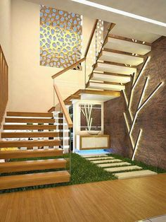 Staircase Interior Design, Home Stairs Design, Home Building Design, Bungalow House Design, Railing Design, House Outer Design, House Front Design, Modern Exterior House Designs, Modern House Design