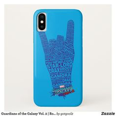 Guardians of the Galaxy Vol. 2 | Rock Hand Sign iPhone X Case. Special Guardians of the Galaxy gift ideas to personalize. #marvel #guardiansofthegalaxy #comic #gifts #birthday #birthdayparty #birthdaycard #personalize #kids #shopping