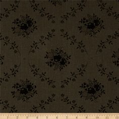 "108"" Wide Quilt Back Fleur Charcoal from @fabricdotcom  This 108'' wide quilt backing features a floral damask pattern. It is perfect for quilt backing, duvets, light curtains and more!"