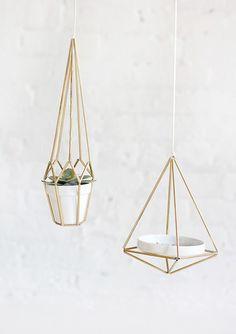 DIY hangers- super minimal design, I love the simplicity.