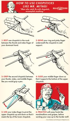 How to Use Chopsticks Like Mr. Miyagi & How to Use Chopsticks Like Mr. Miyagi & The post How to Use Chopsticks Like Mr. Miyagi & & Marked appeared first on Health . Miyagi, Survival Life Hacks, Survival Tips, Survival Skills, Survival Food, Art Of Manliness, Simple Life Hacks, Useful Life Hacks, How To Use Chopsticks