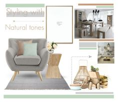 """""""Styling with Natural Tones"""" by xoxo-jess-xoxo ❤ liked on Polyvore featuring interior, interiors, interior design, home, home decor, interior decorating, ESPRIT, D&M, When Objects Work and Kay Bojesen"""