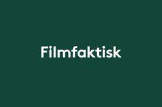 Logotype for Norwegian location-focused filmmakers Filmfaktisk designed by Heydays Identity Design, Visual Identity, Brand Identity, Corporate Identity, Corporate Design, Brochure Design, Typography Logo, Logos, Logo Branding