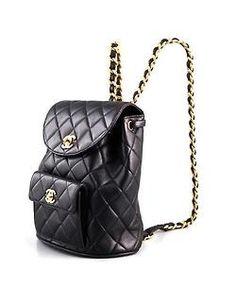 Chanel backpack, feeling so '90s.