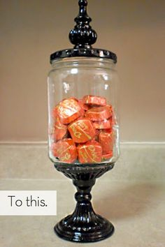 How To: Turn Pickle Jars into Apothecary Jars » Curbly | DIY Design Community Crafts To Do, Diy Projects To Try, Diy Crafts, Upcycled Crafts, Diy House Projects, Craft Projects, Super Glue, Dollar Store Crafts, Dollar Stores