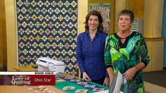 Fons & Porter's Love of Quilting - 'Ohio Star' - This zigzag set quilt features Ohio Star quilt blocks created as part of a block exchange. This is a great way to make a scrappy style quilt and have fun sharing your stash with quilt friends. Mary Fons and Liz Porter will show you how to over-size the hourglass unit in this quilt block design to increase the accuracy of your piecing. They will also discuss this concept as it relates to a block exchange.