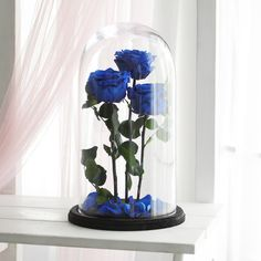 Blue Rose Bouquet, Blue Roses, Blue Flowers, Red Home Decor, Handmade Home Decor, Beauty And Beast Rose, Butterfly Wedding Theme, Rose In A Glass, Red Home Accessories