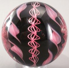 "Handmade Art Glass Marble, BIG 2.5"",  by Tazza Glass"
