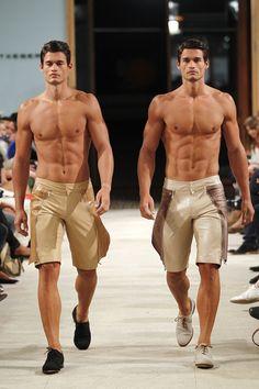 Bodybuilders In Skimpy Bikinis