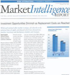 BOMA/Cushman & Wakefield Market Intelligence Report (1994) - Cover Story / Commercial Real Estate Market Analysis