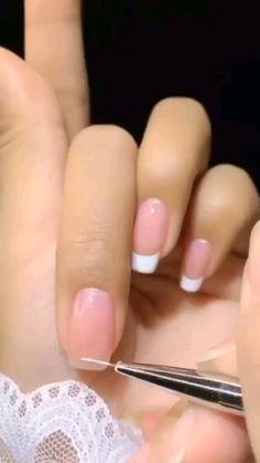 Diy Acrylic Nails, Acrylic Nail Designs, Nail Art Hacks, Nail Art Diy, Pastel Nail Art, Nail Art Designs Videos, Nail Art Tutorials, Diy Nails Videos, Simple Nail Art Videos