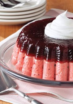 Layered Low-Fat Cranberry Mousse Mold – Everyone will think you're a natural in the kitchen when you bring this fruity JELL-O mold to your next holiday party. No need to tell them how easy it is!