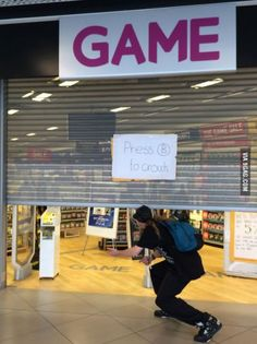 Video Game store makes the most of broken shutters