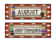 Calendar month toppers with a Pirate theme - version 2. See also, coordinating calendar numbers, calendar companion, nametags, passes, learning objectives posters,weekly behavior report, student information sheets, and newsletter templates.