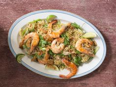 Sometimes eaten as a mid-day meal, or merianda, these pungent chicken, shrimp and vegetable noodles make a great side dish or lunch for a crowd.
