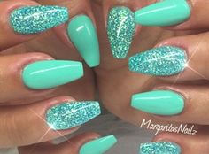 Coffin Nails💚 by MargaritasNailz